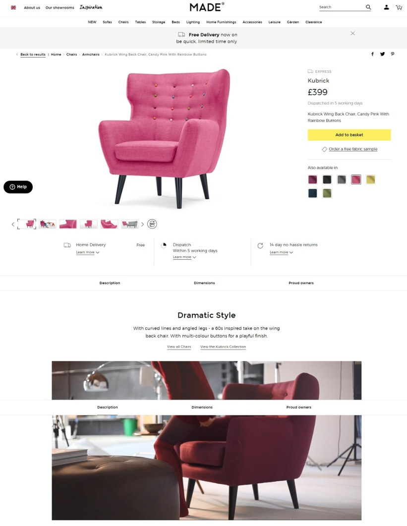 Best product pages: Made