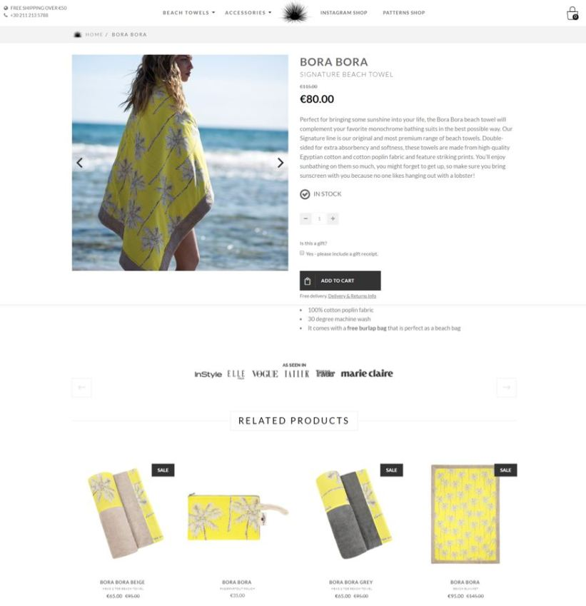 Best product pages: Sun of a Beach