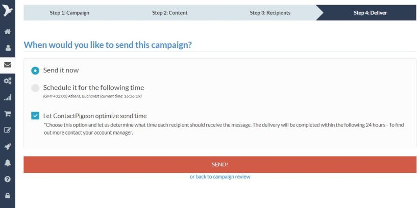Optimized delivery in email marketing