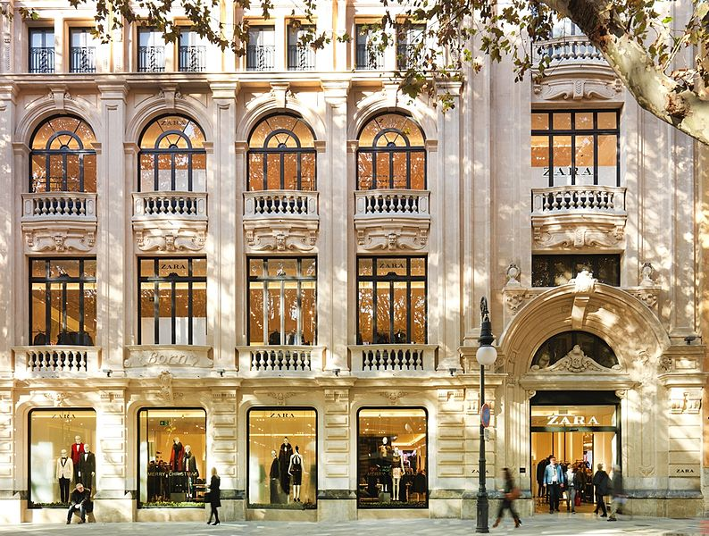 Zara's store in Mallorca, Spain