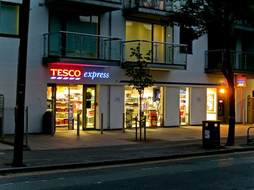 Tesco Express store in London