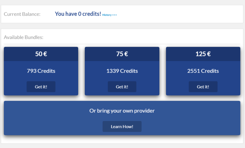 Get mobile credits
