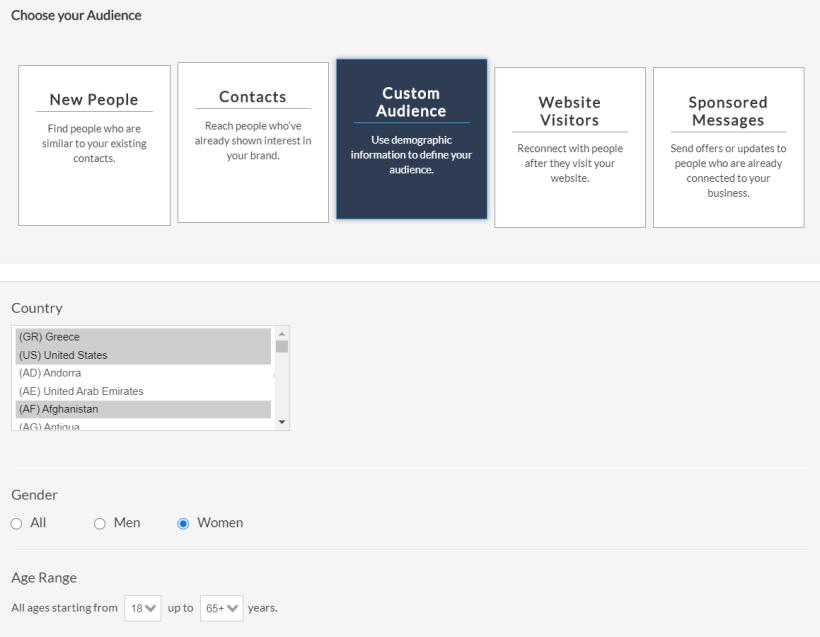 Facbook Custom Audience