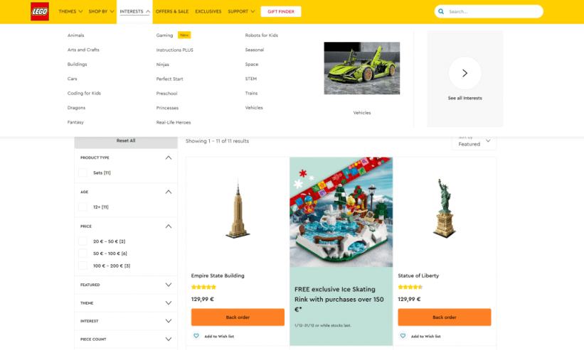 lego category page