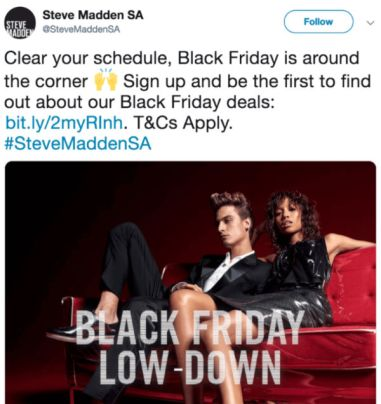 steve madden best black friday campaigns