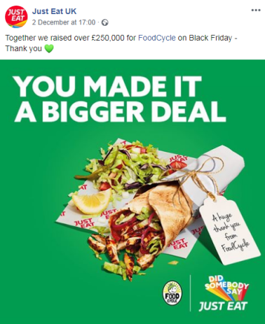 just eat best black friday campaigns
