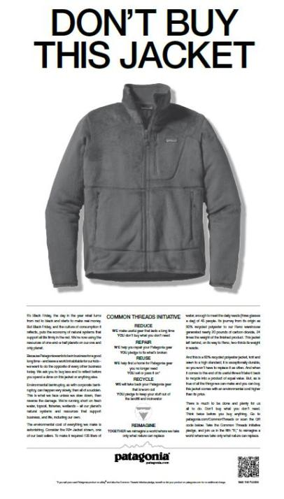 patagonia best black friday campaigns