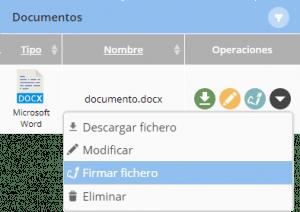 Firmar fichero con certificado digital