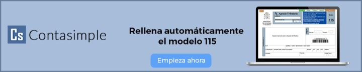 Rellenar el modelo 115 con Contasimple