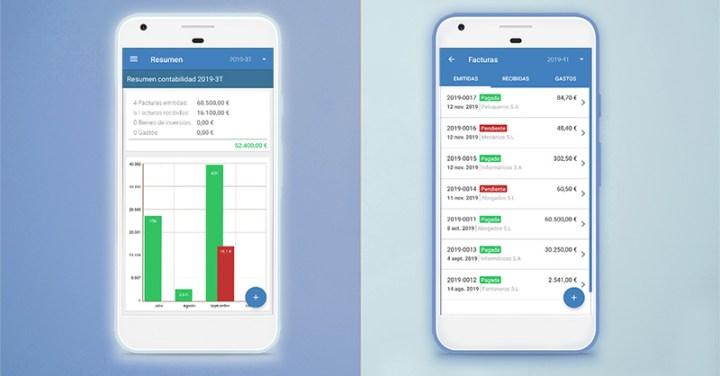 App para facturas de Contasimple