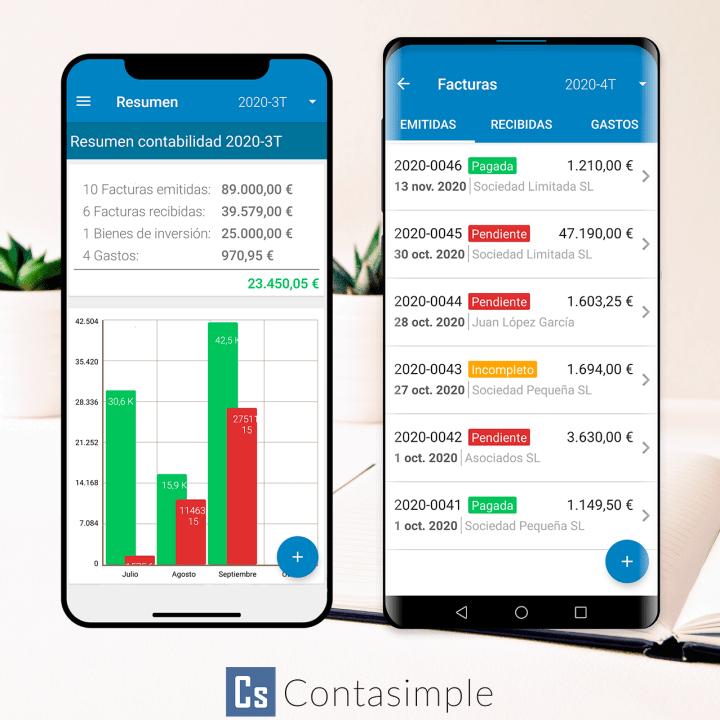 App de facturación para Android e iOS de Contasimple