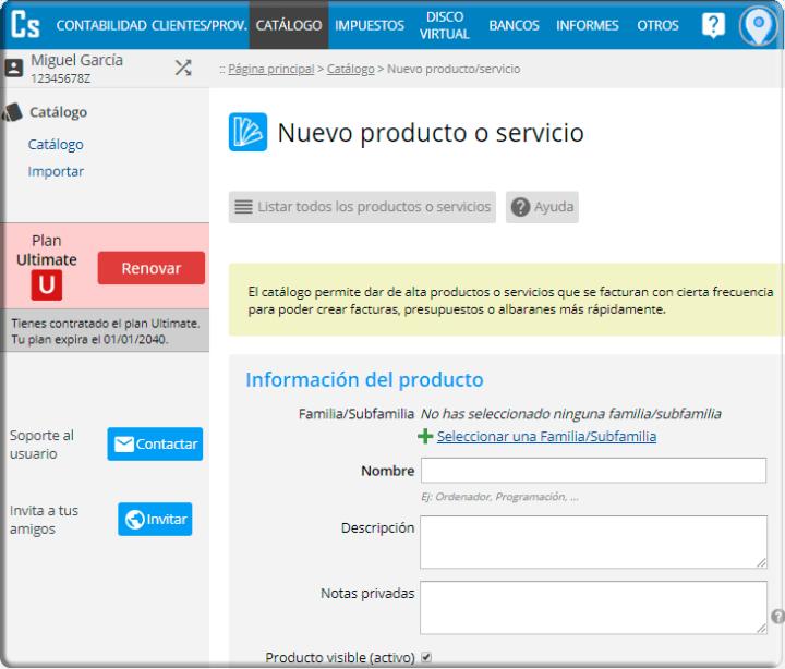 Cómo crear un nuevo producto o servicio