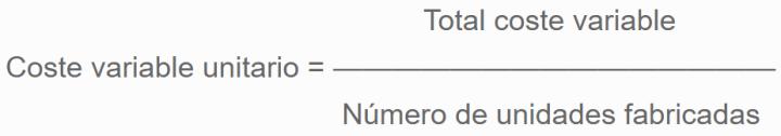 Fórmula coste variable unitario