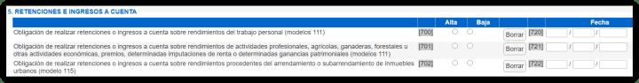 Modelo 037 - Rentenciones e ingresos a cuenta