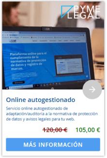 Marketplace: Servicios de protección de datos de PymeLegal. Online autogestionado