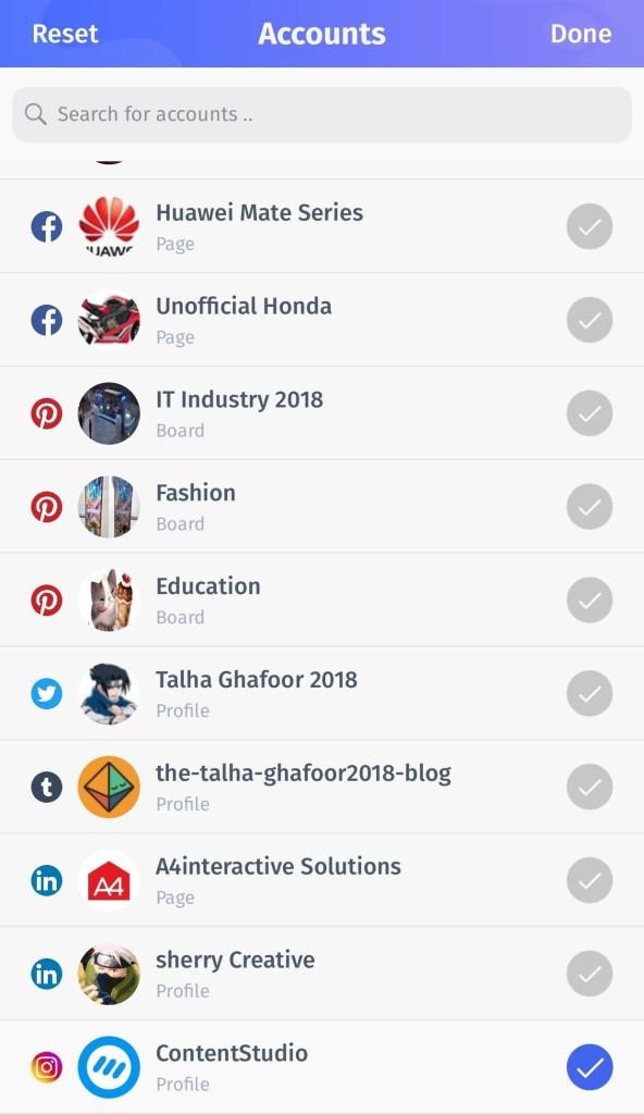ContentStudio app