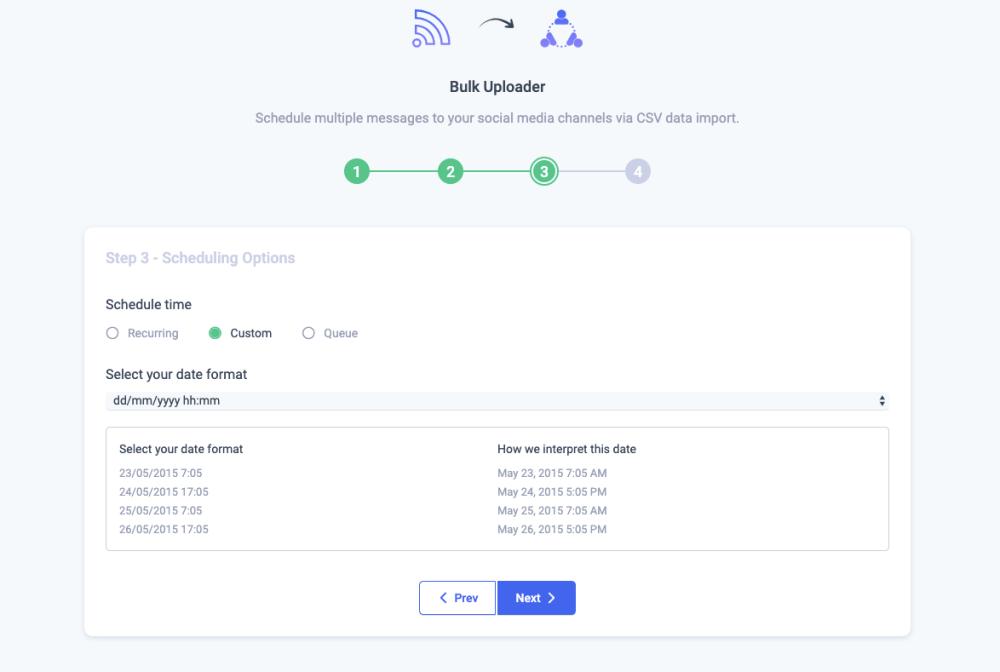 Bulk Scheduling- Custom Scheduler ContentStudio