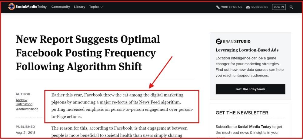 Facebook posting automation - ContentStudio