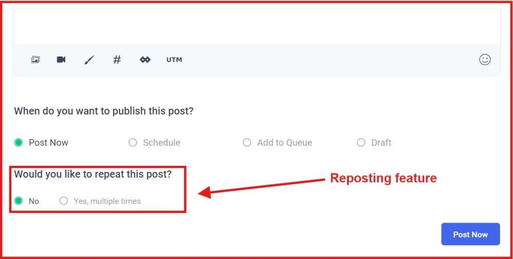 Re-posting content on Facebook - ContentStudio