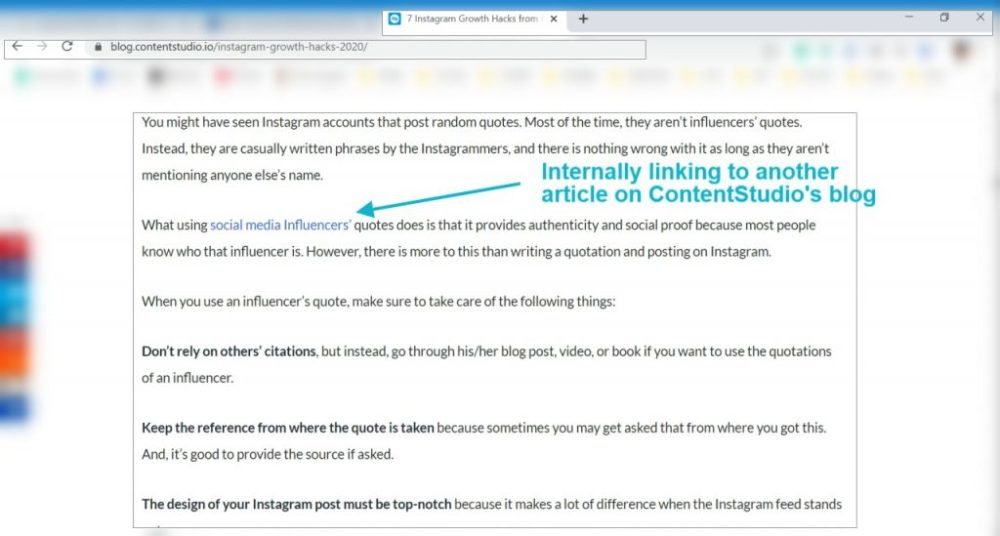 ContentStudio-Internal Linking technical SEO