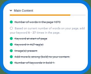 Main Content SEO