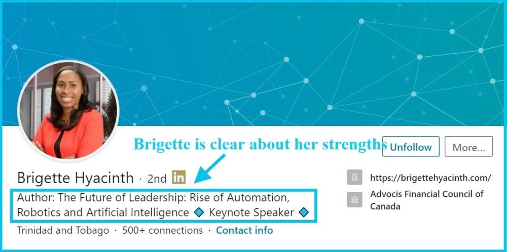 brigette linkedin author bio