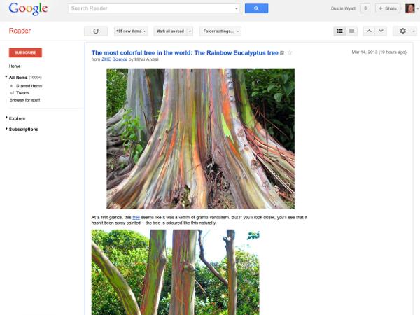 Typical Google Reader