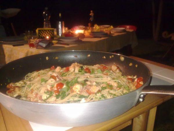 Spaghetti pomodori pachino e pesce spada