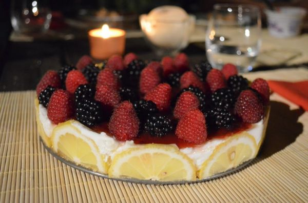 Torta fresca allo Yogurt e Limone Polenghi