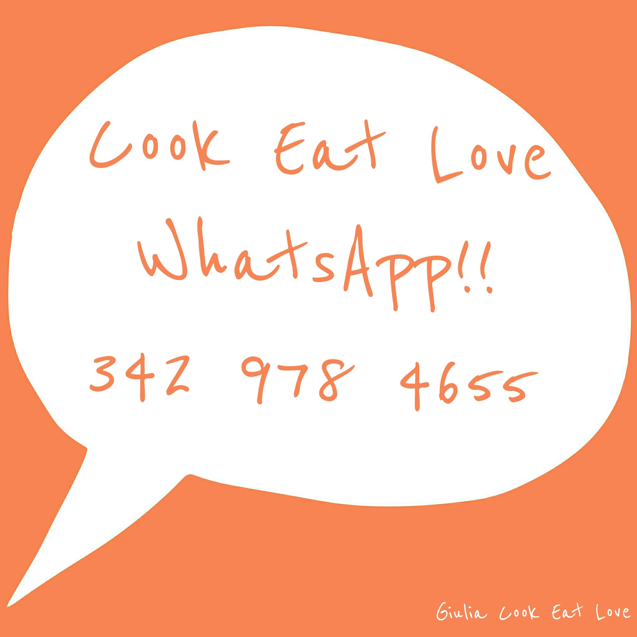 Cook Eat Love & WhatsApp