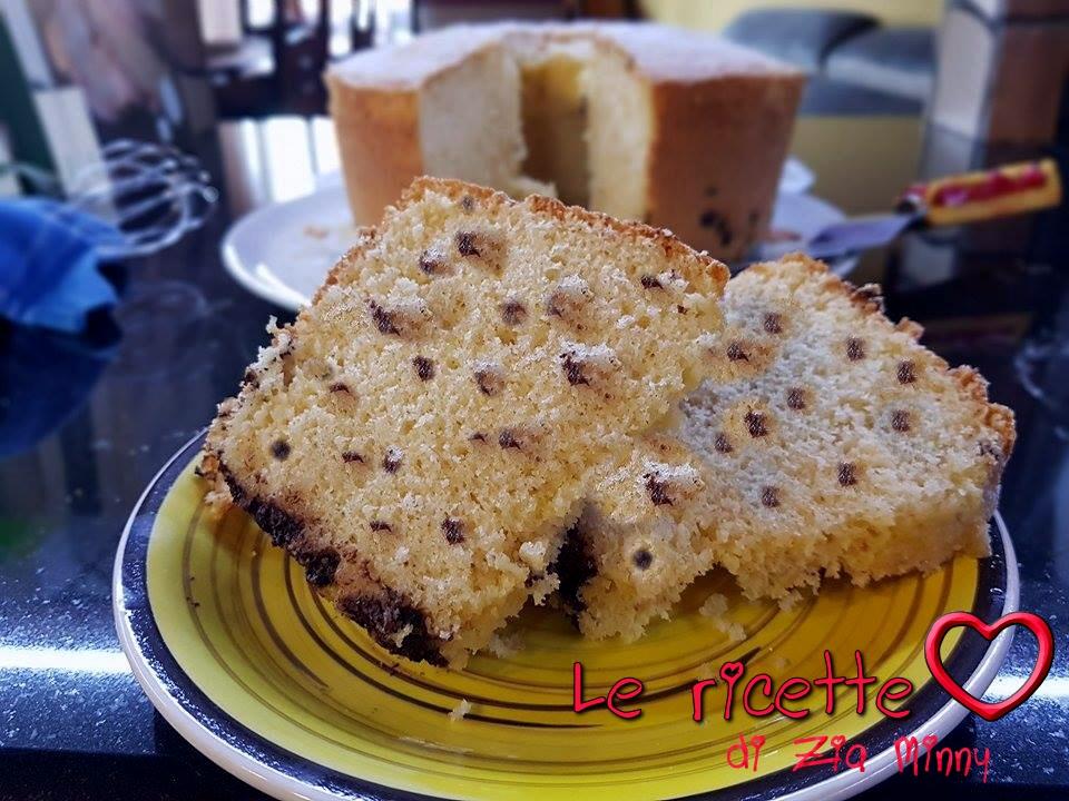 CHIFFON CAKE CON GOCCE DI CIOCCOLATO