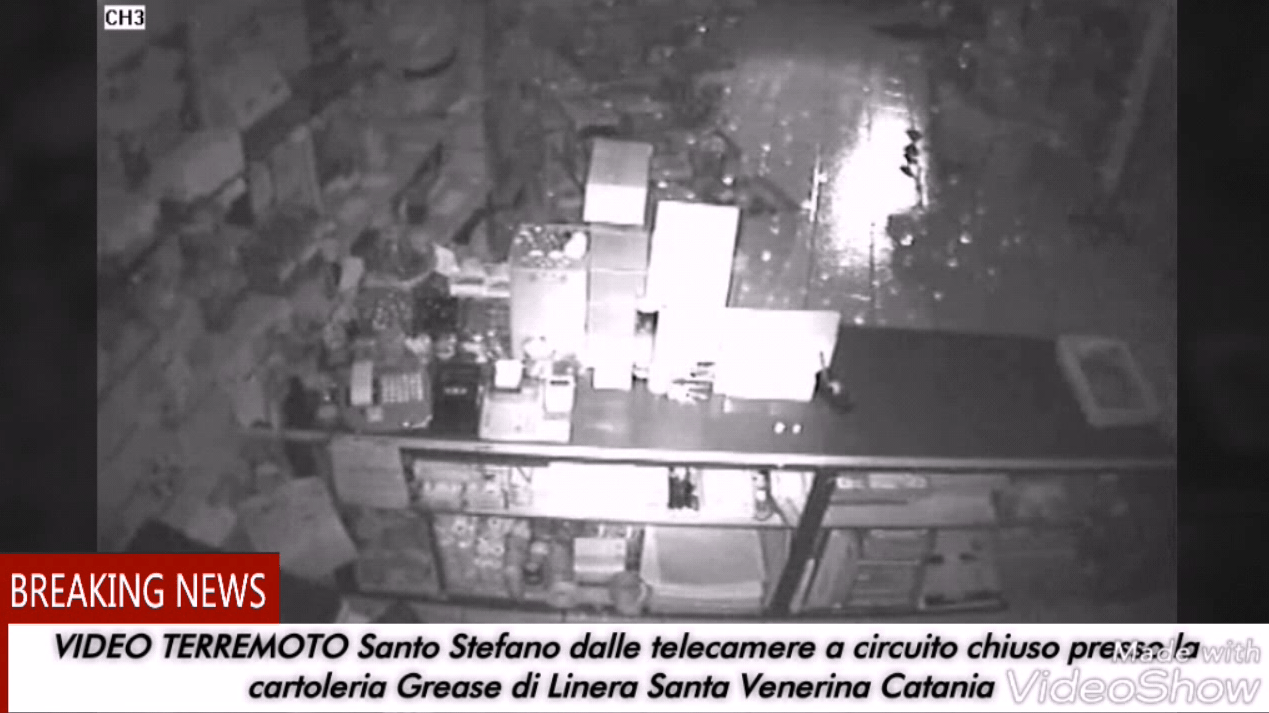 VIDEO TERREMOTO SANTO STEFANO 2018
