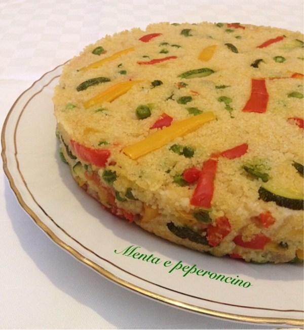 Torta cous cous e verdure