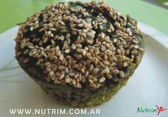Muffins de espinacas, avena y avena de Nutrim
