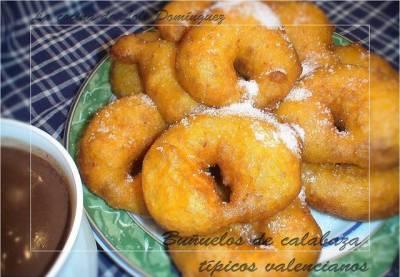 Receta de buñuelos de calabaza o buñuelos valencianos