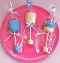 Homemade Baby Shower Favors, Baby Rattle Pops
