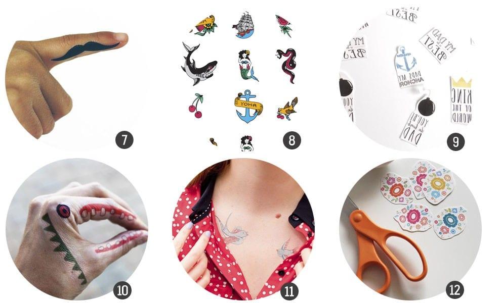 Imprimibles Gratis 12 Tatuajes Temporales Para Imprimir Cosas