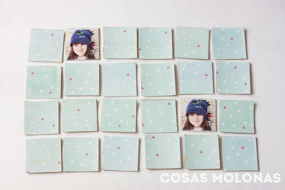 Manualidades para nios Juego de memoria con fotografas