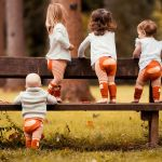toddlers wearing fox leggings from cotswold baby co
