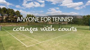 Tennis court cottages