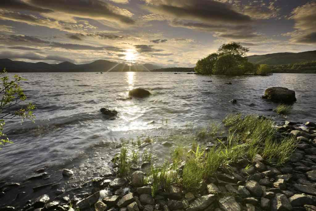 Loch Lomond as the sun rises