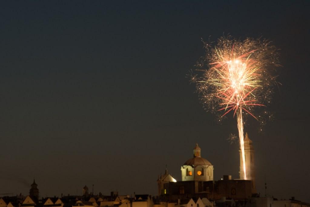 Apulia  bonfires and fireworks