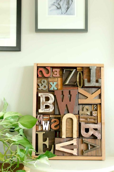 DIY Art Idea With Faux Letterpress Print Blocks