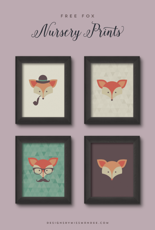 Fox Nursery Prints