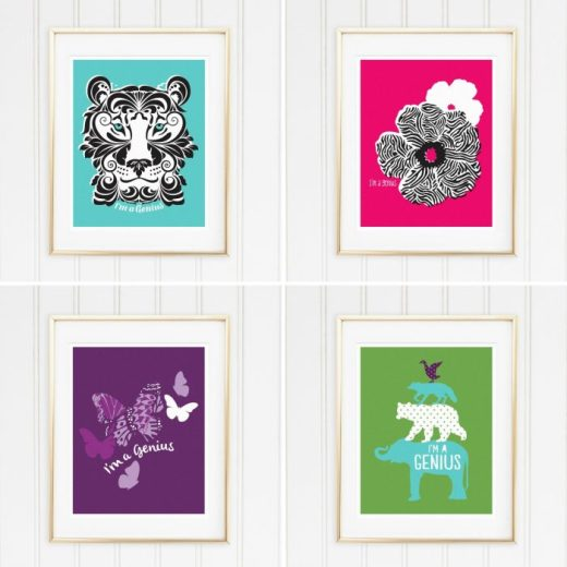 Genius Series Art Prints - Set of 4 - Irwin, Martin, Patch, and Osa
