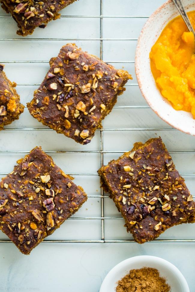 Pumpkin Oatmeal Breakfast Bars