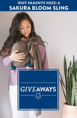 Enter to win a Sakura Bloom ring sling