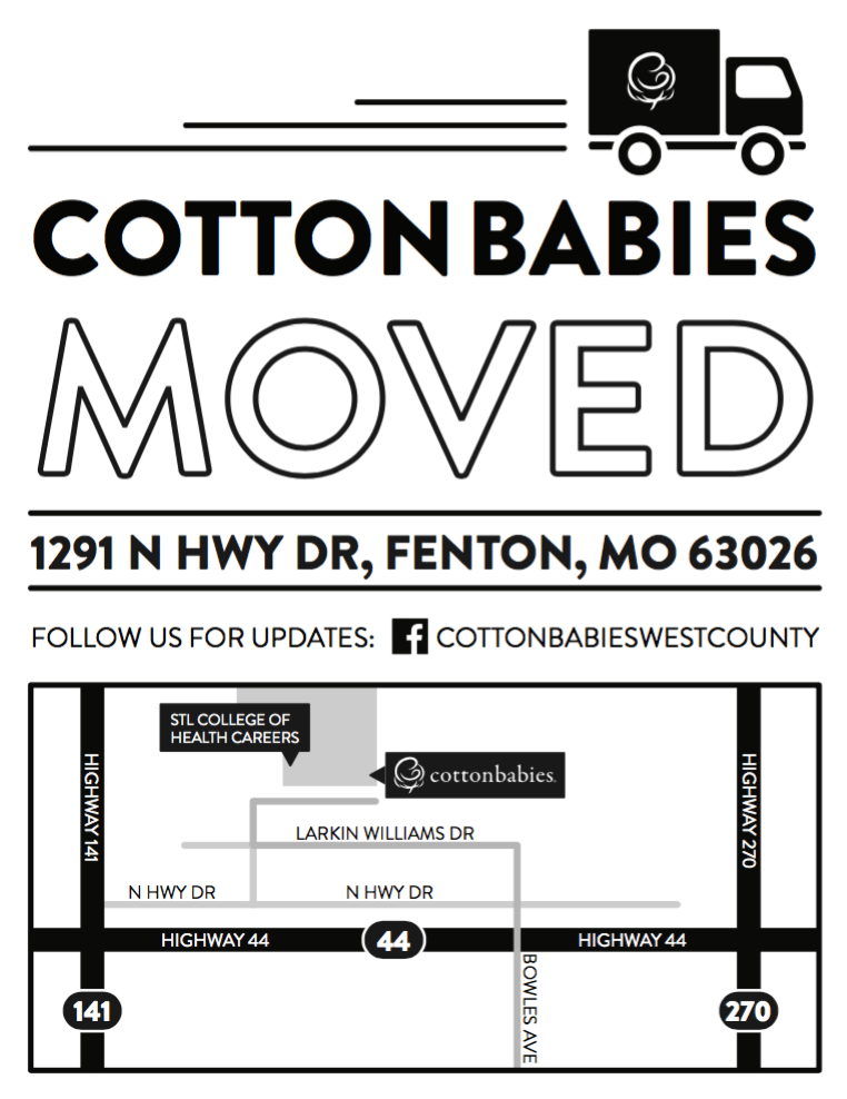 Map to Cotton Babies store