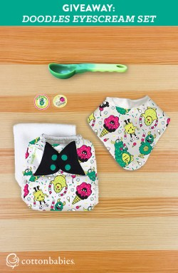 I scream, you scream, we all scream for ice cream! Enter to win your own EYEscream cloth diaper set from Cotton Babies! #doodles #clothdiapers #bumgenius