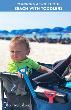 Top tips for planning a trip to the beach with toddlers.